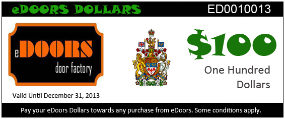 eDoors 100 dollars