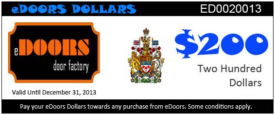 eDoors 200 dollars